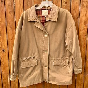 VINTAGE Flannel Lined Barn Chore Coat